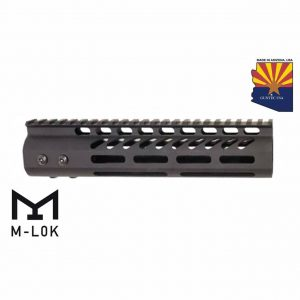 """9"""" Ultra Lightweight Thin M-LOK System Free Floating Handguard With Monolithic Top Rail (Anodized Black)"""