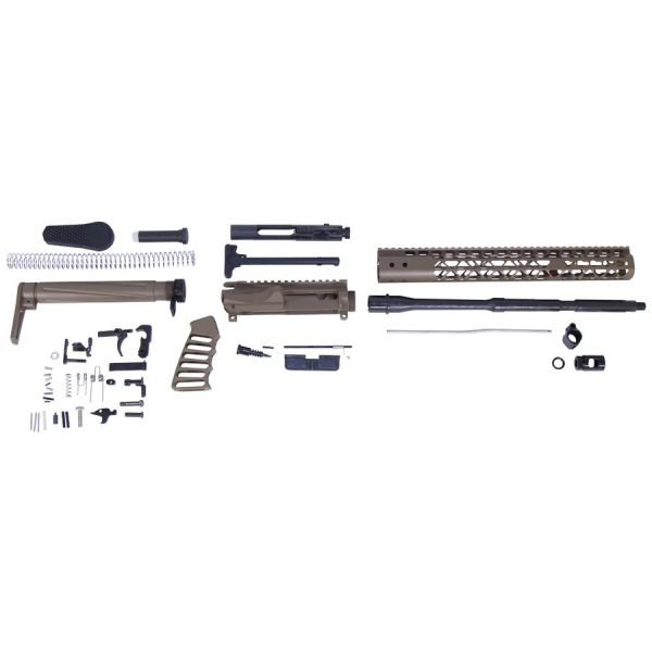 AR-15 5.56 Cal Complete Airlite Series Rifle Kit (No Lower) (Flat Dark Earth)