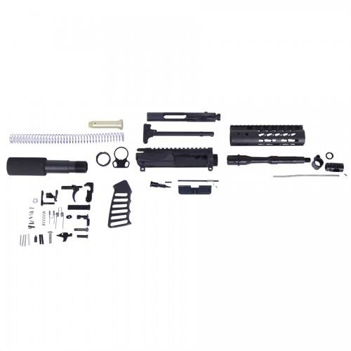 AR-15 5.56 Cal Complete Ultralight Series Pistol Kit (No Lower)