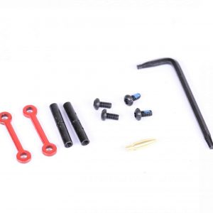 AR-15 Complete Anti-Rotation Trigger/Hammer Pin Set (Cerakote Red)
