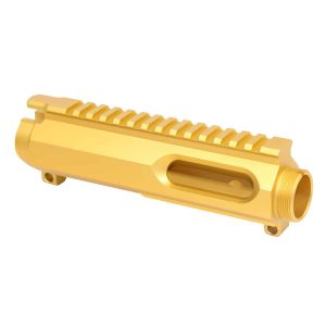 AR-15 9mm Dedicated Stripped Billet Upper Receiver (Anodized Gold)