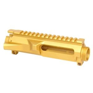 AR-15 Stripped Billet Upper Receiver (Anodized Gold)