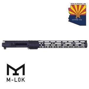 "AR-15 Stripped Billet Upper Receiver & 15"" AIR-LOK Series M-LOK Compression Handguard Combo Set (Gen 2) (Anodized Black)"