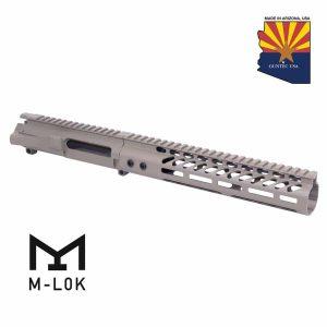 """AR-15 Stripped Billet Upper Receiver & 10"""" Ultralight Series M-Lok Handguard Combo Set (Flat Dark Earth)"""