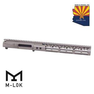"""AR-15 Stripped Billet Upper Receiver & 12"""" Ultralight Series M-LOK Handguard Combo Set (Flat Dark Earth)"""