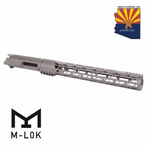 """AR-15 Stripped Billet Upper Receiver & 15"""" Air-LOK Series M-LOK Handguard Combo Set (Gen 2) (Flat Dark Earth)"""