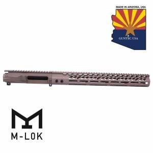 """AR-15 Stripped Billet Upper Receiver & 15"""" Ultralight Series M-LOK Handguard Combo Set (Flat Dark Earth)"""