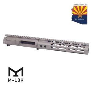 """AR-15 Stripped Billet Upper Receiver &Amp; 9"""" Ultralight Series M-LOK Handguard Combo Set (Flat Dark Earth)"""