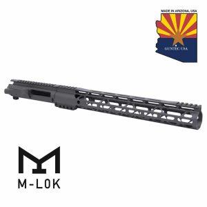 """AR-15 Stripped Billet Upper Receiver & 15"""" Air LOK Series M-LOK Handguard Combo Set (Gen 2) (OD Green)"""