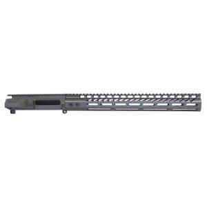 """AR-15 Stripped Billet Upper Receiver &Amp; 15"""" Ultralight Series M-LOK Handguard Combo Set (OD Green)"""