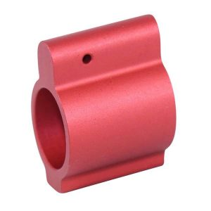 AR-15 Aluminum Low Profile .750 Gas Block (Anodized Red)