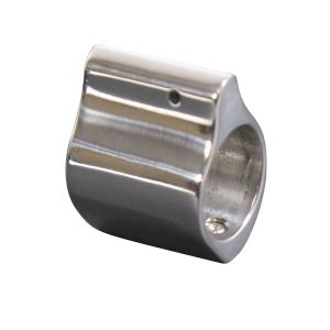 AR-15 Polished Stainless Steel Low Profile Gas Block