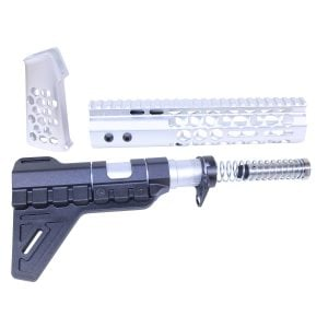 AR-15 Honeycomb Pistol Furniture Set (Anodized Clear)