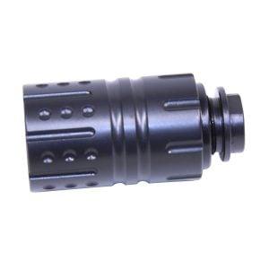 "AR 9mm ""Hellfire"" Muzzle Compensator With Qd Blast Shield (Gen 2)"