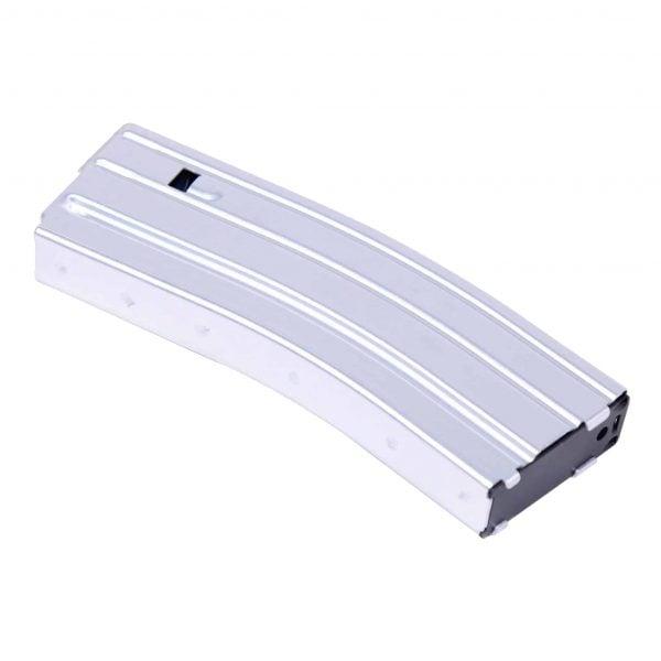 AR 5.56 Cal Aluminum 30 Rnd Mag With Anti-Tilt Follower (Anodized Clear)
