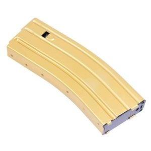 AR 5.56 Cal Aluminum 30 Rnd Mag With Anti-Tilt Follower (Anodized Gold)
