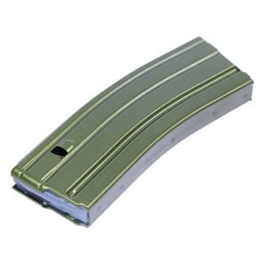 AR 5.56 Cal Aluminum 30 Rnd Mag With Anti-Tilt Follower (Anodized Green)