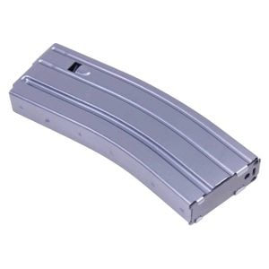 AR 5.56 Cal Aluminum 30 Rnd Mag With Anti-Tilt Follower (Anodized Grey)