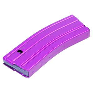 AR 5.56 Cal Aluminum 30 Rnd Mag With Anti-Tilt Follower (Anodized Purple)