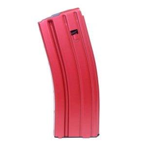AR 5.56 Cal Aluminum 30 Rnd Mag With Anti-Tilt Follower (Anodized Red)