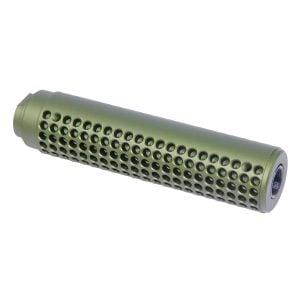 AR-15 Reverse Thread Slip Over Socom Style Fake Suppressor (Anodized Green)
