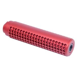 AR-15 Reverse Thread Slip Over Socom Style Fake Suppressor (Anodized Red)