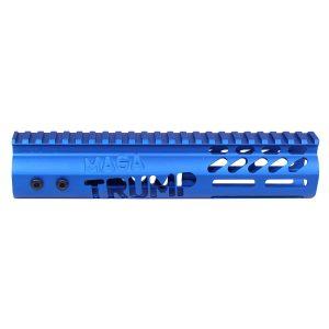 "AR-15 'Trump MAGA Series' Limited Edition 9"" Free Floating M-LOK Handguard (Gen 2) (Anodized Blue)"