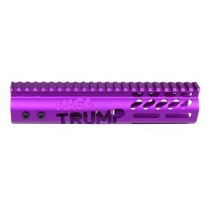 "AR-15 'Trump MAGA Series' Limited Edition 9"" Free Floating M-LOK Handguard (Gen 2) (Anodized Purple)"