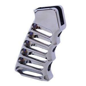 Ultralight Series Skeletonized Aluminum Pistol Grip (Black Chrome)