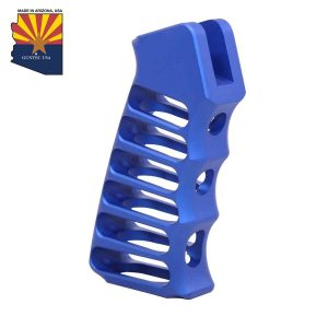 Ultralight Series Skeletonized Aluminum Pistol Grip (Anodized Blue)