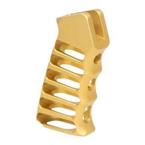 Ultralight Series Skeletonized Aluminum Pistol Grip (Anodized Gold)