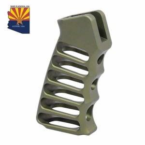 Ultralight Series Skeletonized Aluminum Pistol Grip (Anodized Green)