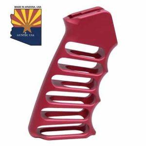 Ultralight Series Skeletonized Aluminum Pistol Grip (Anodized Red)