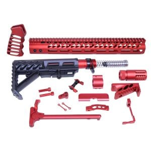 AR-15 Ultimate Rifle Kit (Anodized Red)