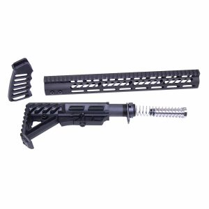 AR-15 Ultralight Series Complete Furniture Set (Anodized Black)