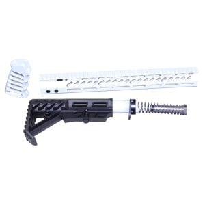 AR-15 Ultralight Series Complete Furniture Set (Arctic White)