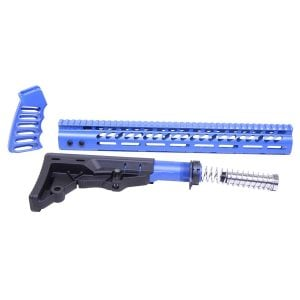 AR-15 Ultralight Series Complete Furniture Set (Anodized Blue)