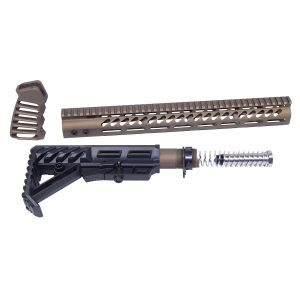 AR-15 Ultralight Series Complete Furniture Set (Burnt Bronze)