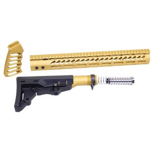 AR-15 Ultralight Series Complete Furniture Set (Anodized Gold)
