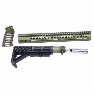 AR-15 Ultralight Series Complete Furniture Set (Anodized Green)