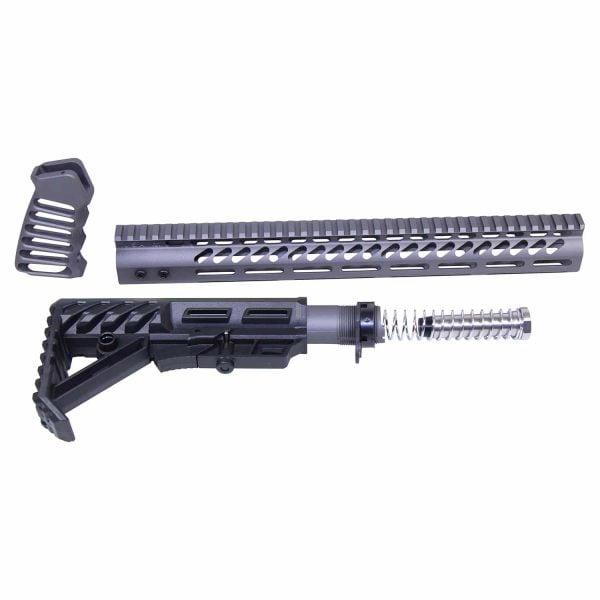 AR-15 Ultralight Series Complete Furniture Set (Tungsten)