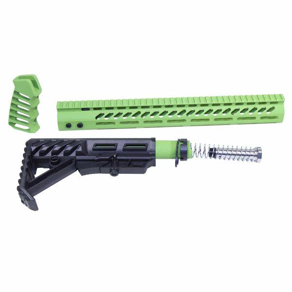 AR-15 Ultralight Series Complete Furniture Set (Zombie Green)