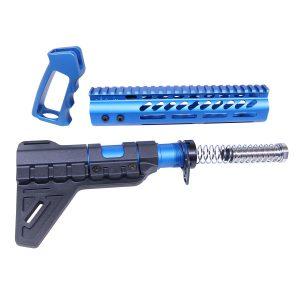 AR-15 Ultra Pistol Furniture Set (Anodized Blue)