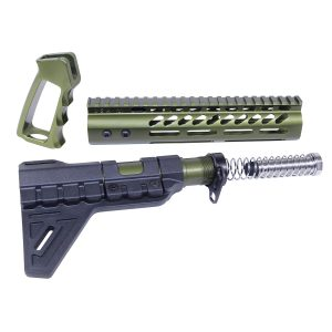 AR-15 Ultra Pistol Furniture Set (Anodized Green)