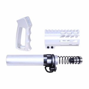 AR-15 Micro Pistol Furniture Set (Anodized Clear)