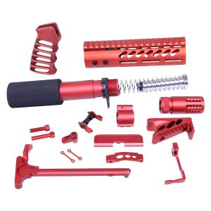 AR-15 Ultimate Pistol Kit (Anodized Red)