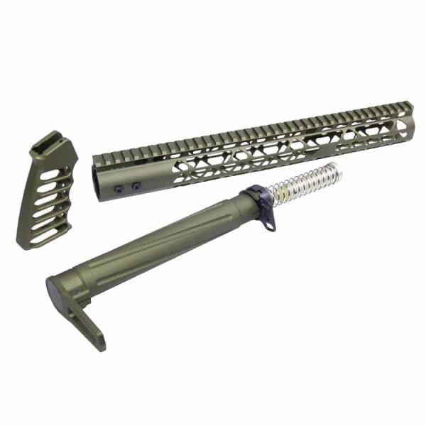 AR-15 AIR Lite Series Complete Furniture Set (Anodized Green)