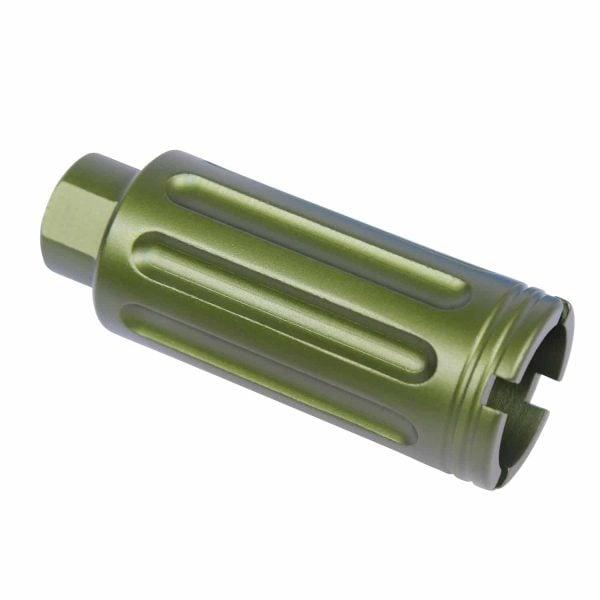 AR-15 Slim Line Cone Flash Can (Gen 2) (Anodized Green)