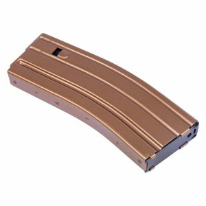 AR 5.56 Cal Aluminum 30 Rnd Mag With Anti-Tilt Follower (Anodized Bronze)